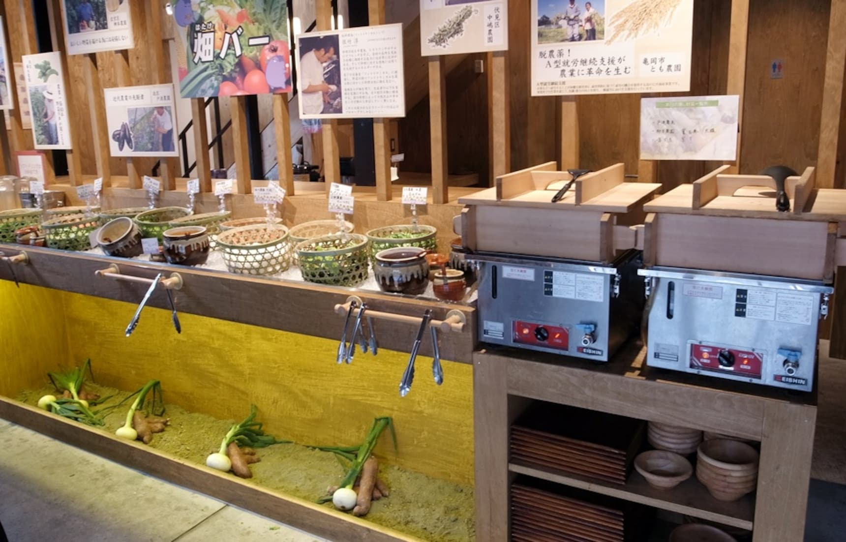 All-You-Can-Eat Vegetable Bar for Only ¥500!