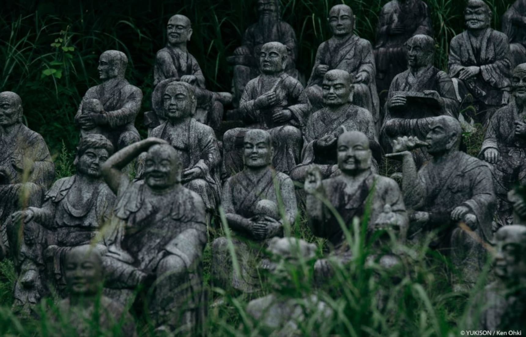Visit an Eerie Grove of Buddhist Statues