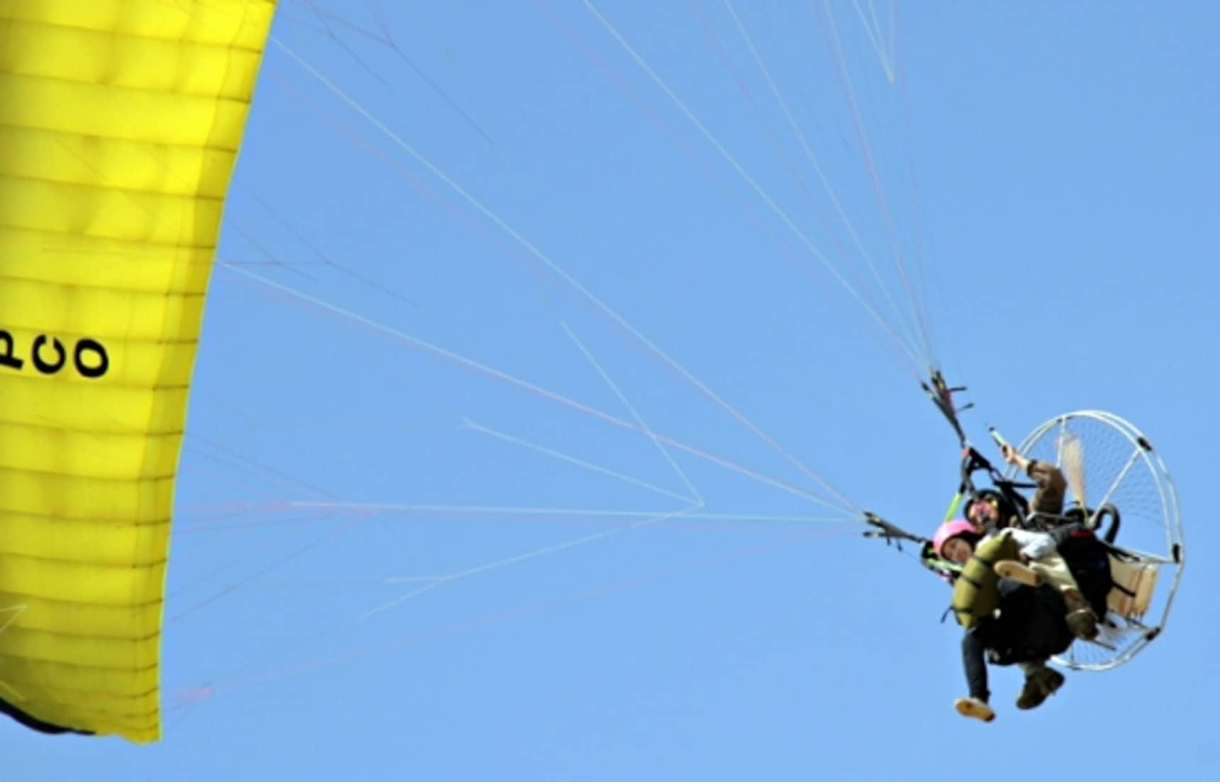 Take off on a Fun Tandem Paraglider Flight