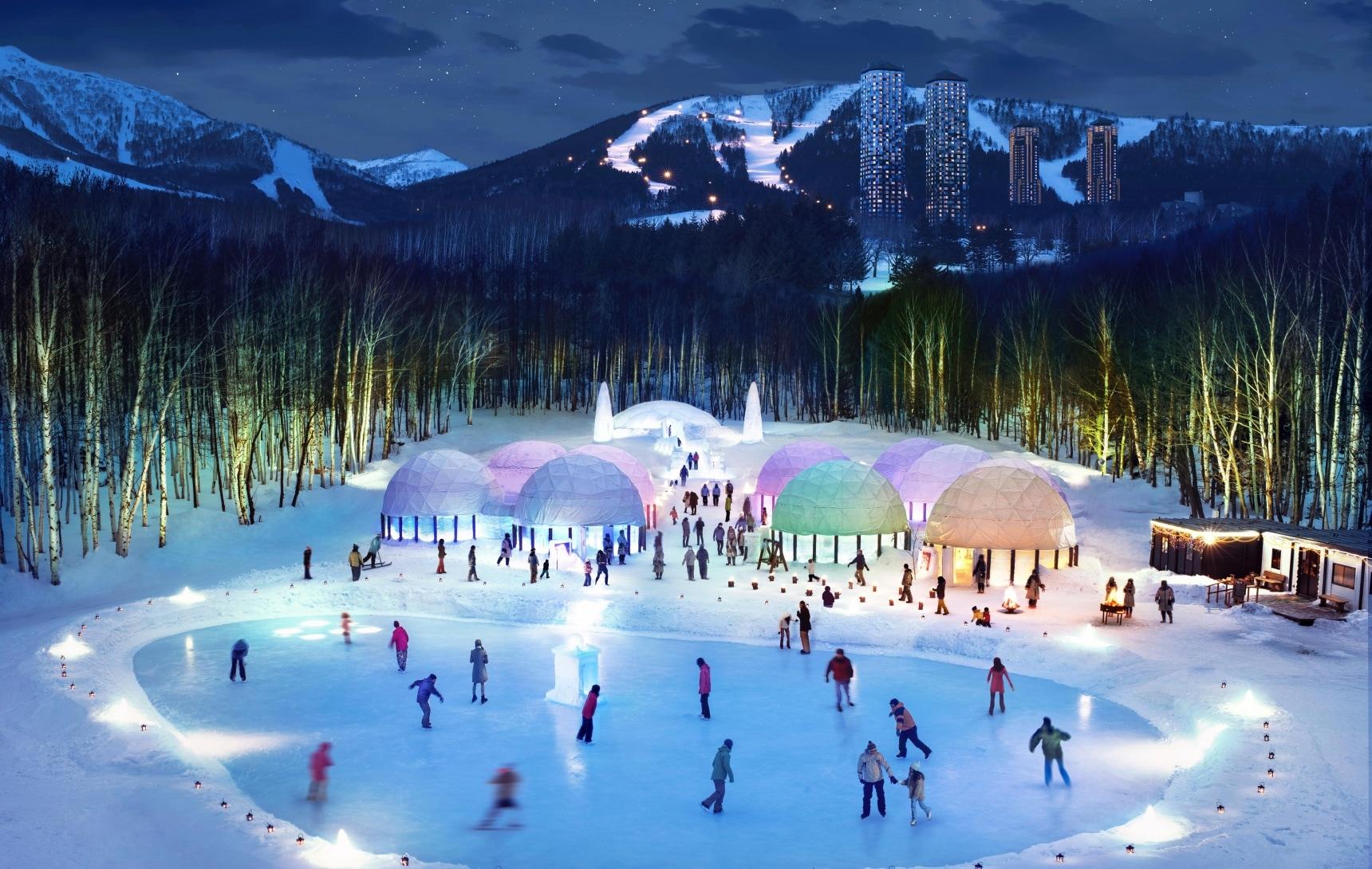 สไลด์ให้สนุกในดินแดนสีขาวโพลน ICE VILLAGE