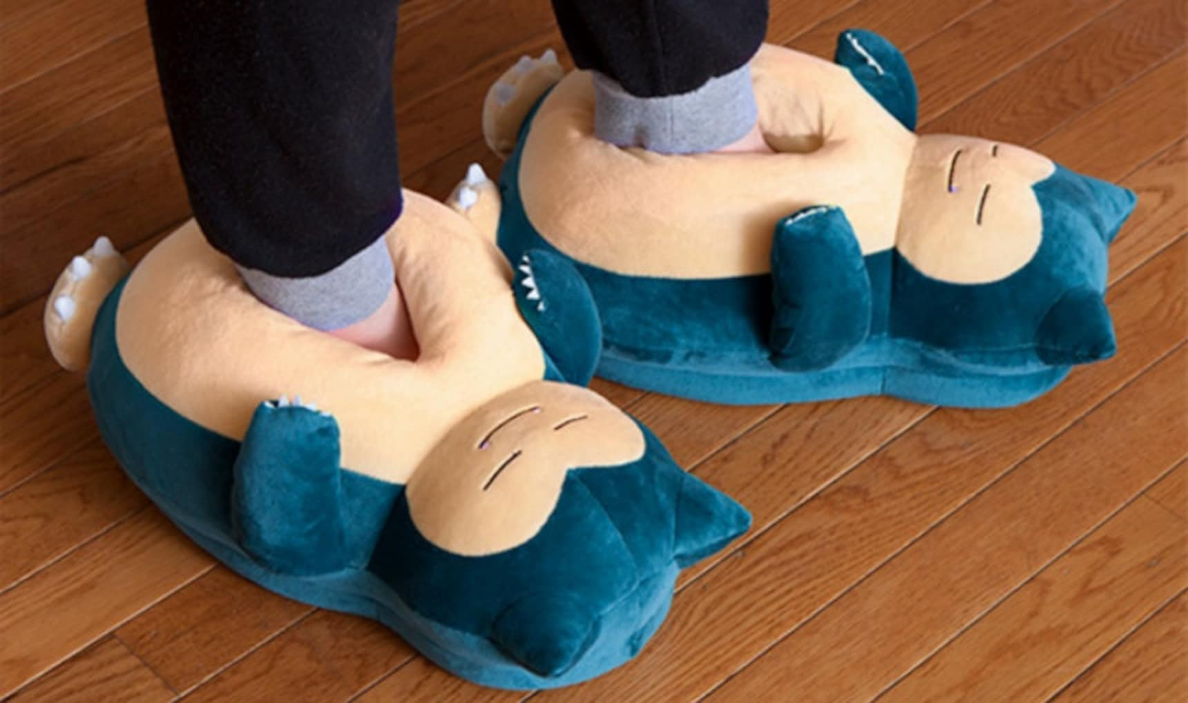 Slip Your Feet into Some Snorlax Slippers