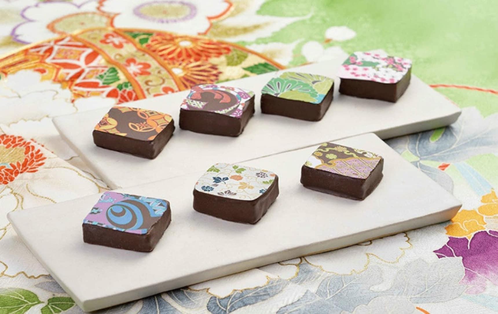 A Sweet Mixture of Chocolate & Kimono Design