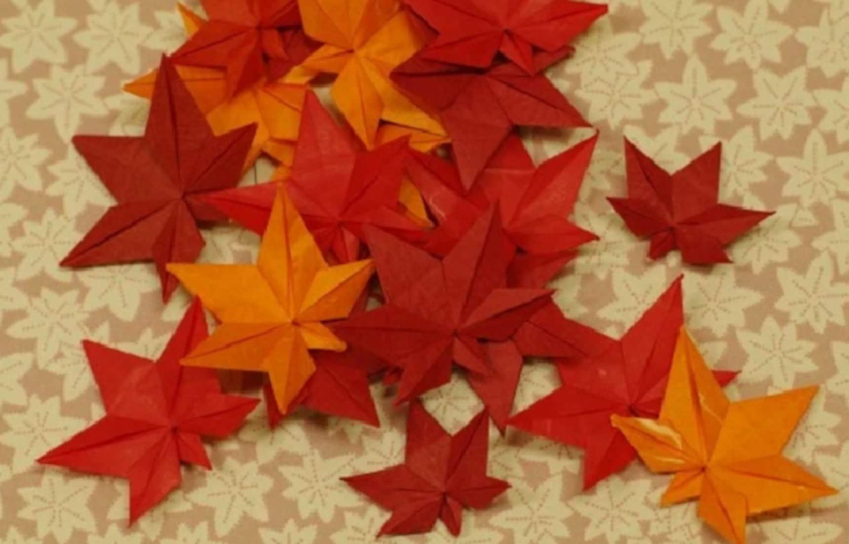 가을을 종이로 접어보자! 종이접기 디자인 6