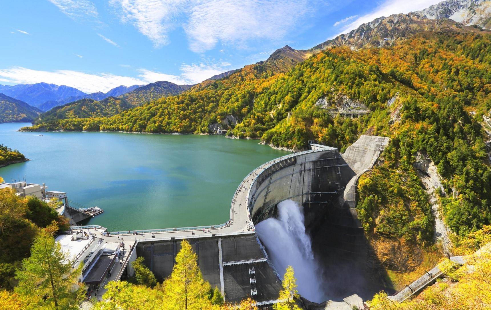 日本最后的秘境,目击黑部水库大坝