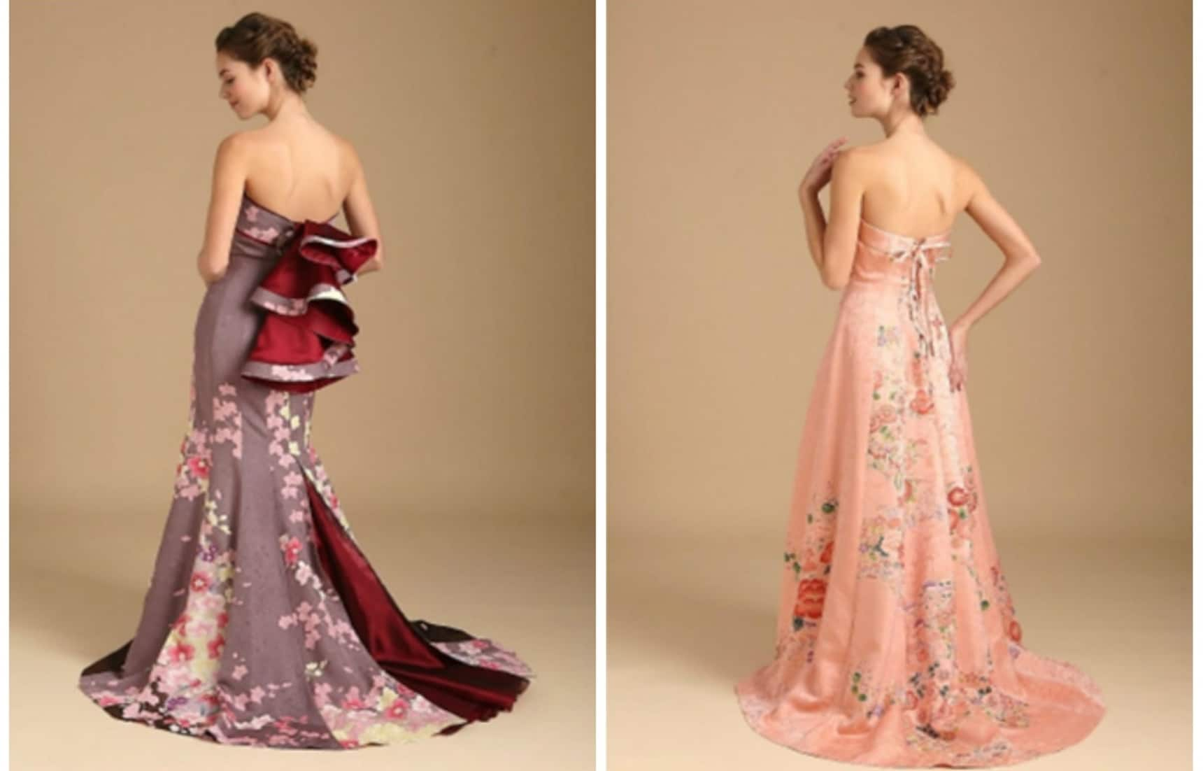 Fashioning a Wedding Dress Out of a Kimono