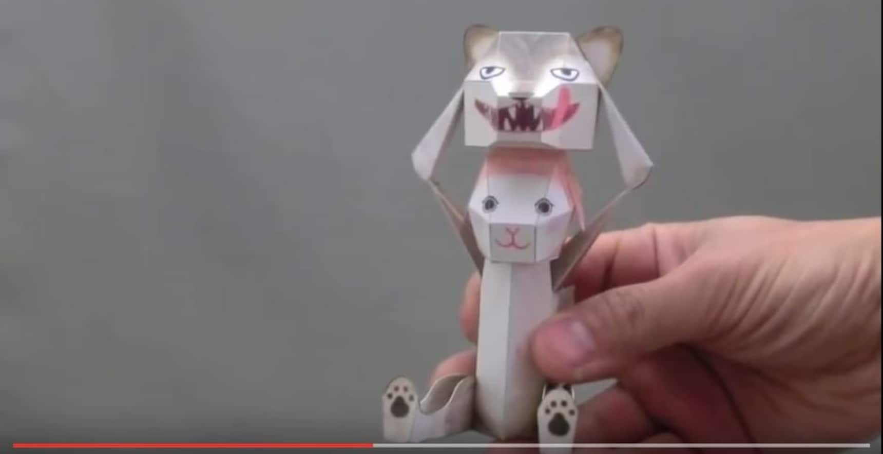 Japanese Paper Puppets Transform with a Tap