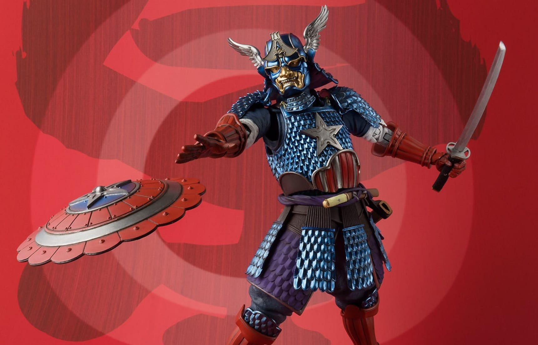 Captain America Turns Samurai Warrior