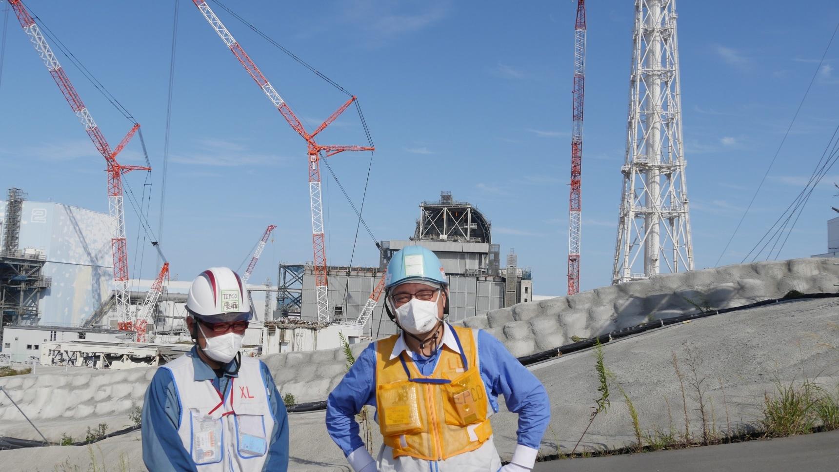 華媒總編深入福島第一核電廠採訪