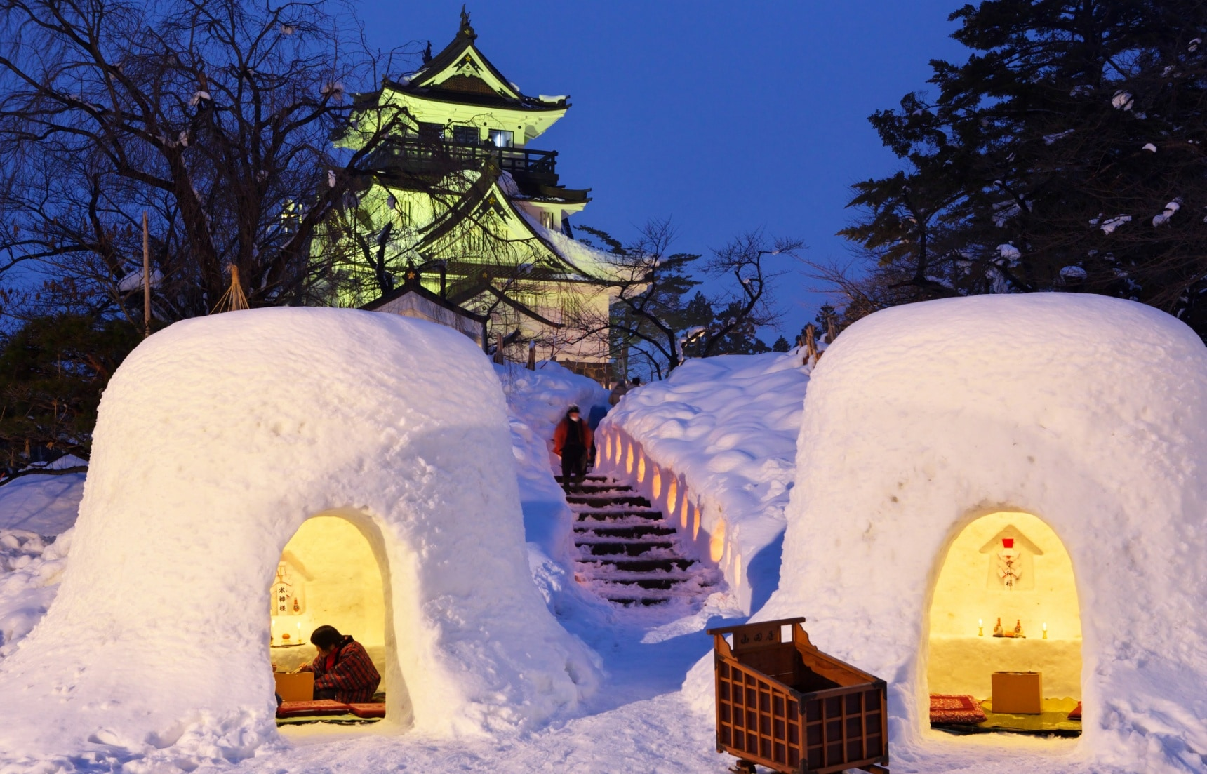 the 5 biggest snow festivals in tohoku all about japan. Black Bedroom Furniture Sets. Home Design Ideas