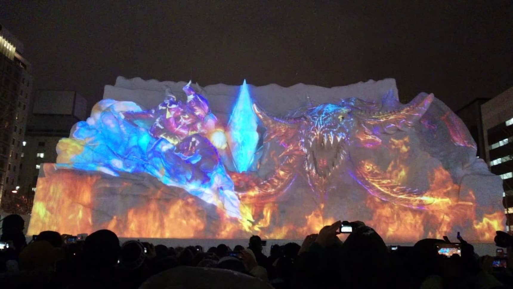 Final Fantasy Snow Sculpture Heats up Hokkaido