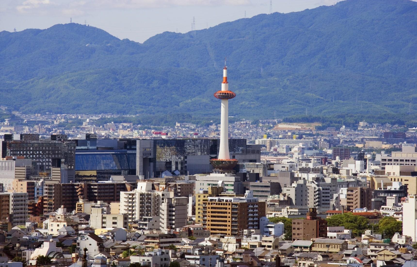 ชมวิวจากยอดหอคอย Kyoto Tower