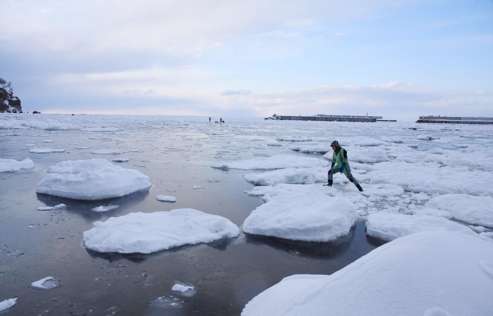 【北海道自由行】在鄂霍次克海的中央漂流!知床宇登呂溫泉地區流冰漫步全攻略!