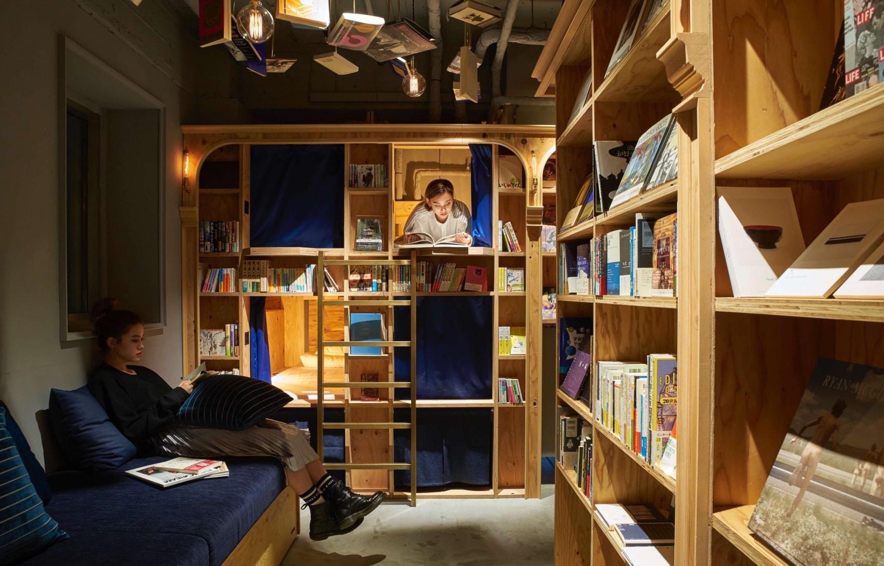 책 읽다 잠드는 감성 호텔: Book And Bed Tokyo