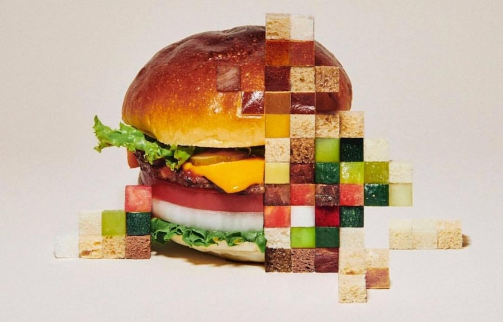 Pixel-Perfect Real-Life Food Art