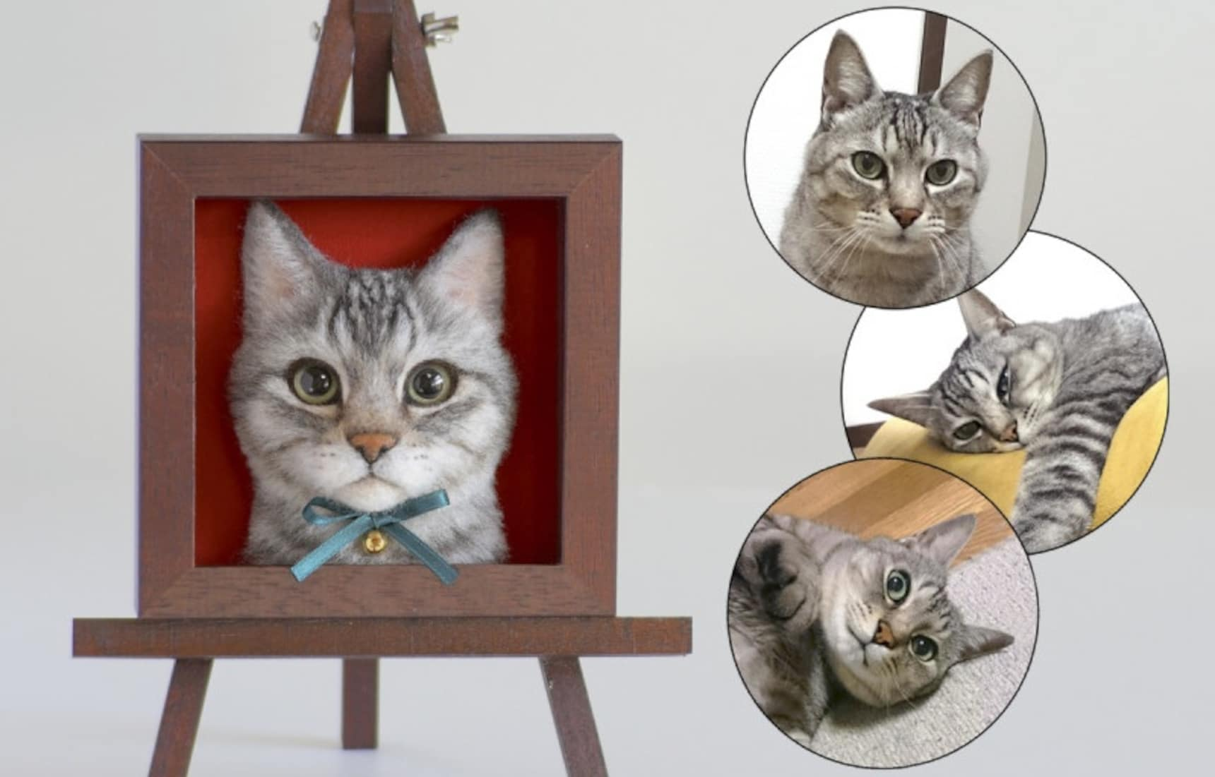 Wakuneco Makes Heart-'felt' Portraits of Cats