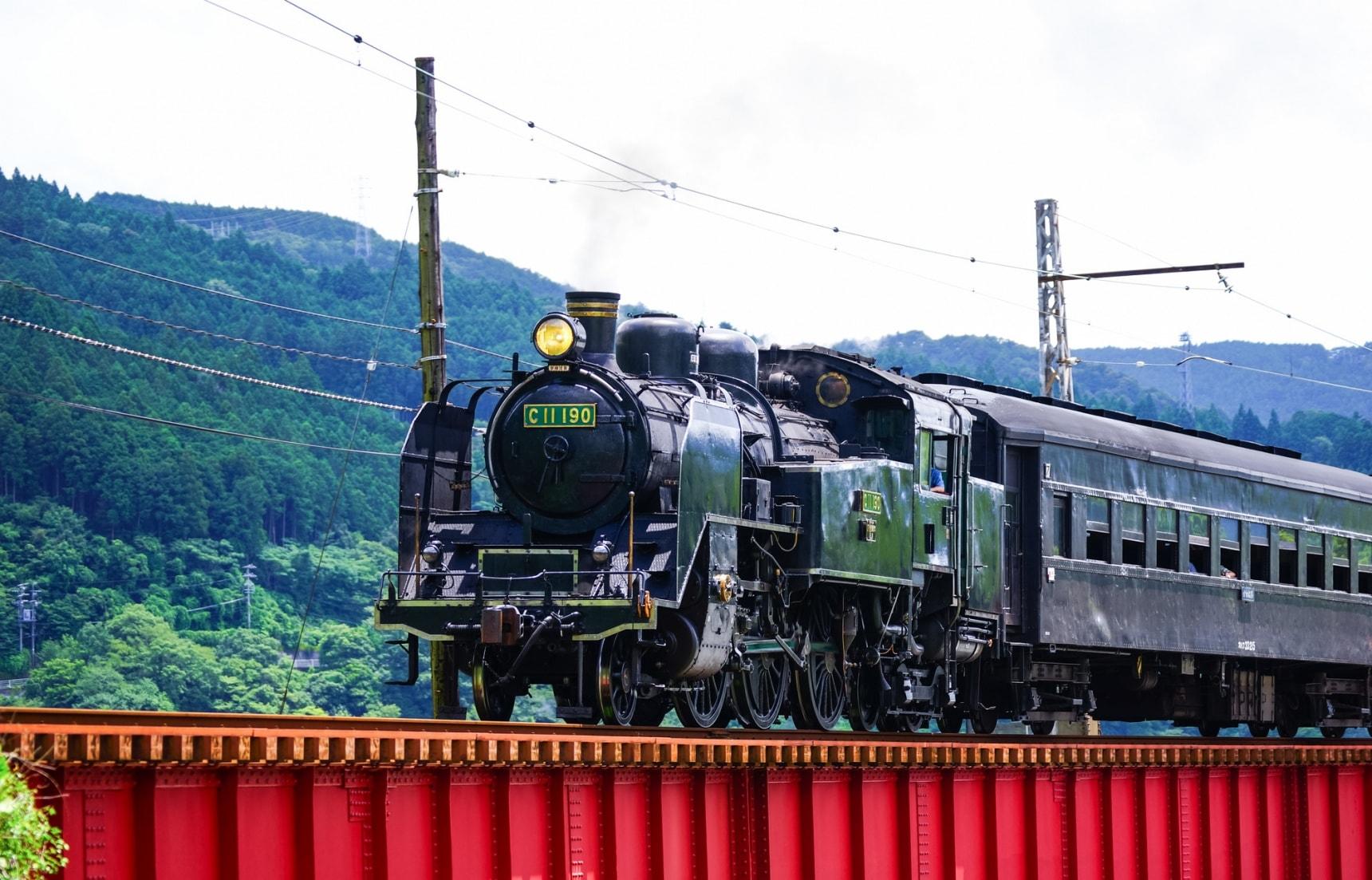 大井川鐵道蒸汽火車|在晴朗風景中行走的SL之深奧妙趣