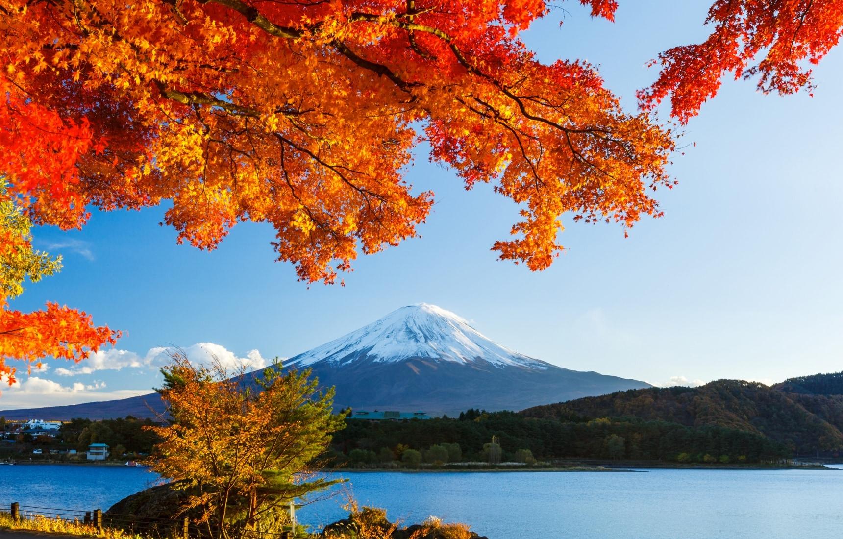 후지 산에서 맞이하는 가을 하늘