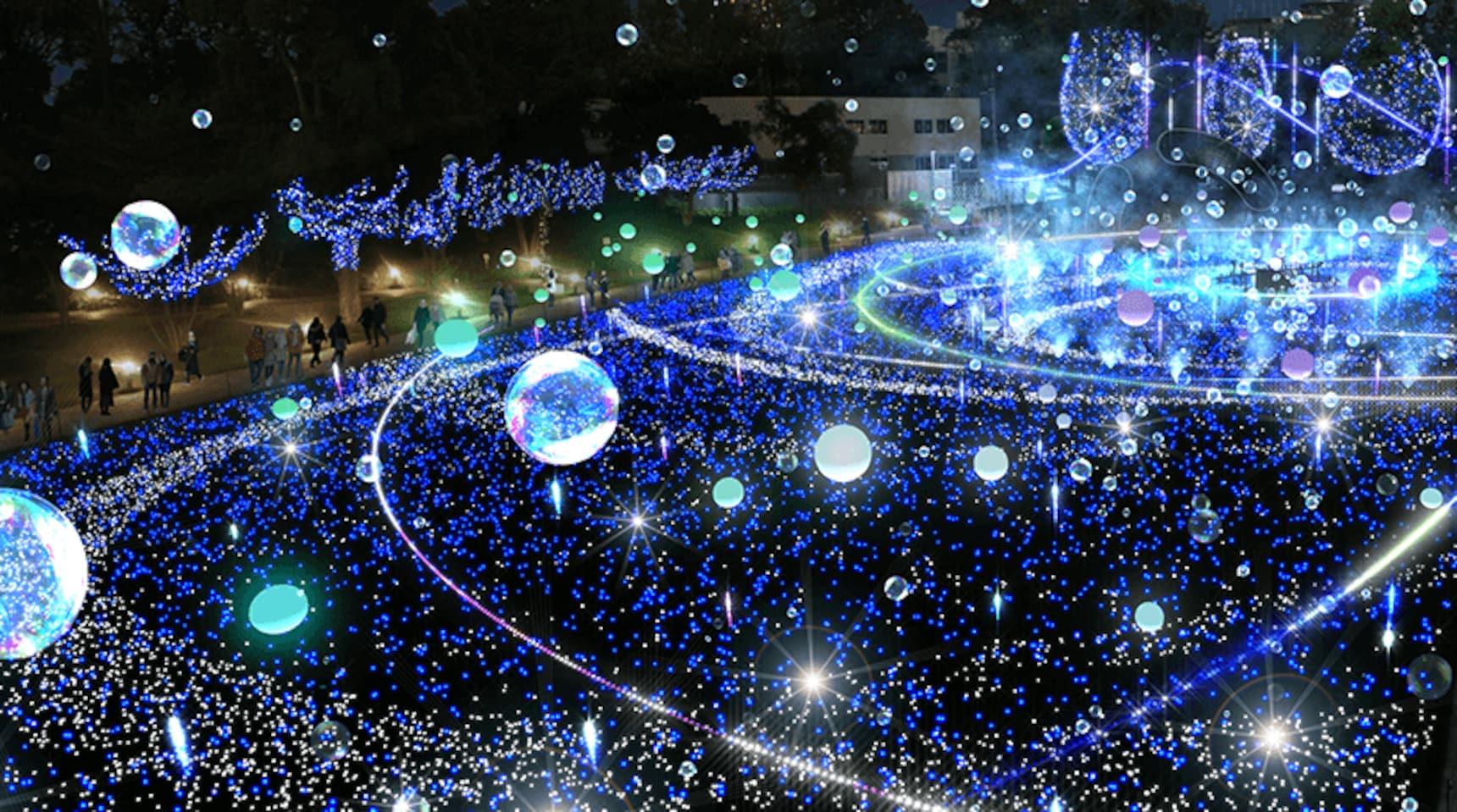 ชมไฟประดับสวยงามราวกับดวงดาวที่ Tokyo Midtown