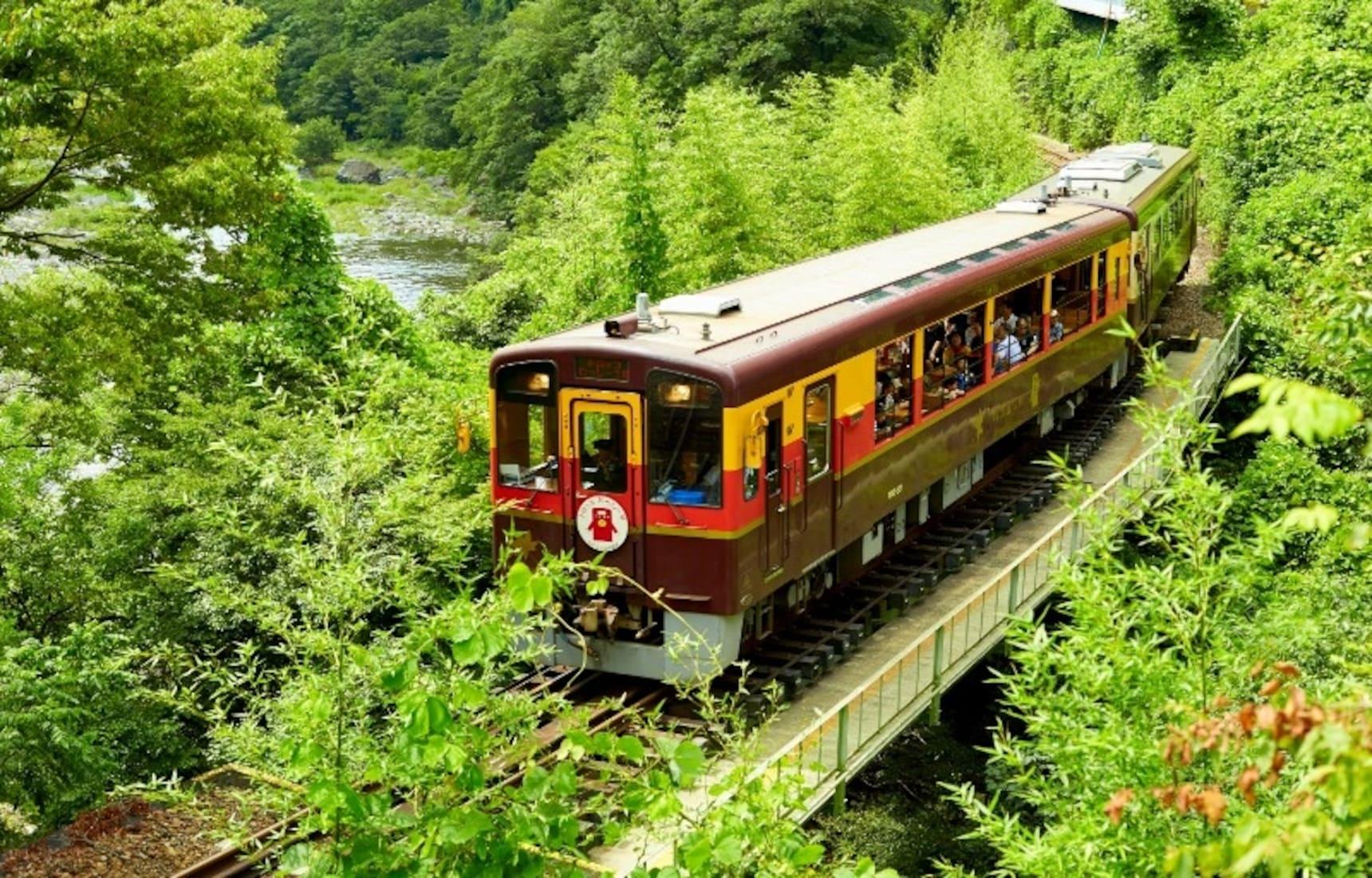 搭乘穿越溪谷山嵐的渡良瀨溪谷鐵道,欣賞來自大自然的「全景圖」