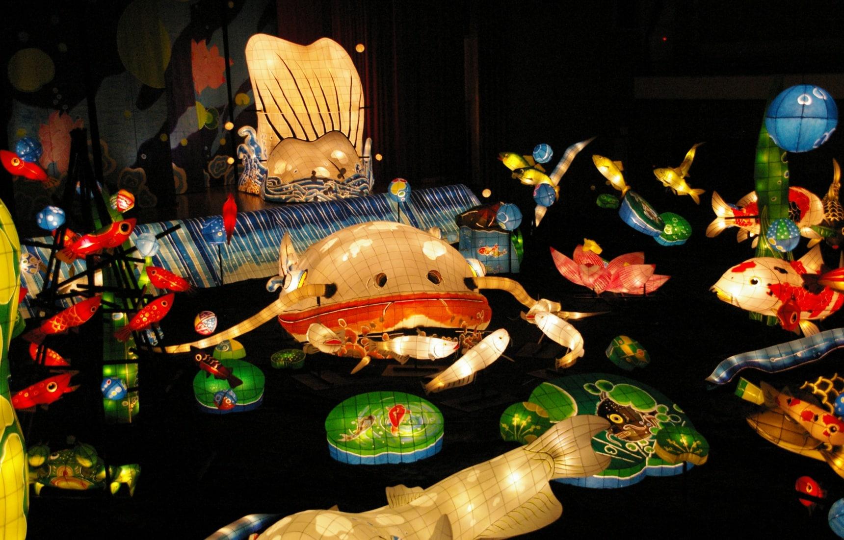เทศกาลโคมปลาดุกที่อุเระชิโนะออนเซน