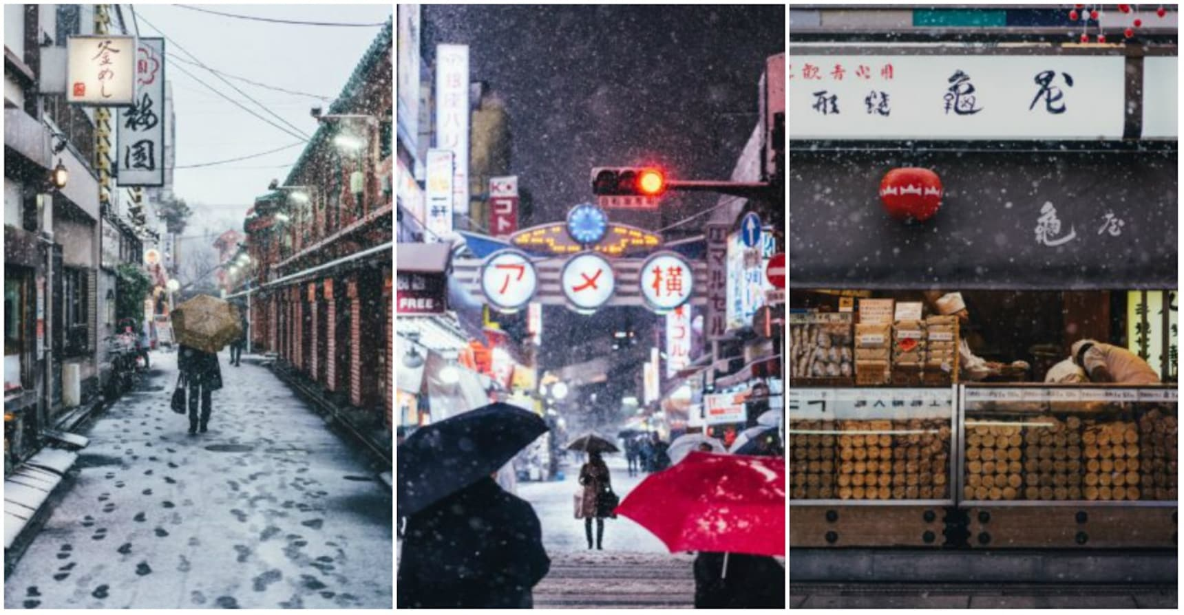 Photographs of Snow Covered Tokyo