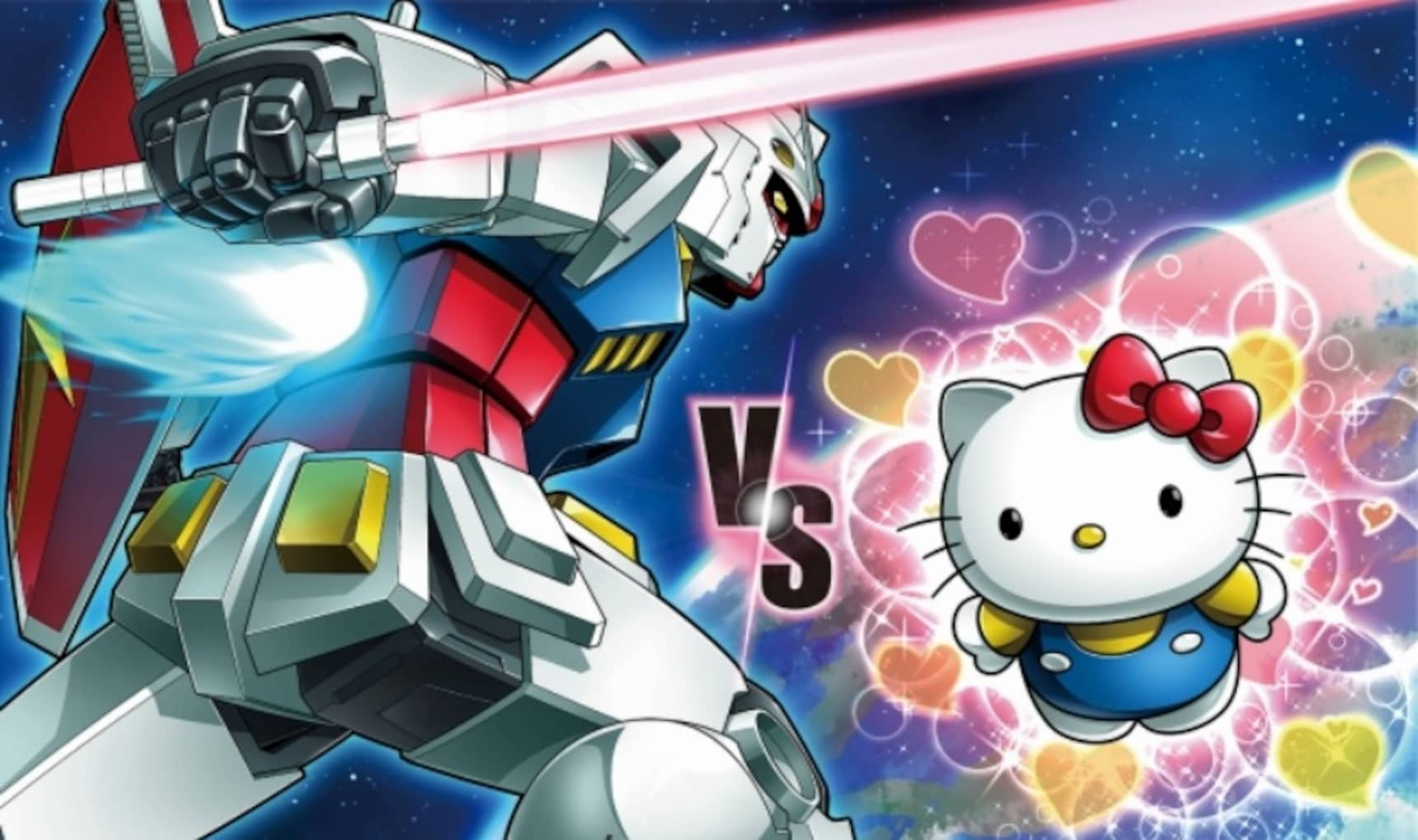 Otaku Titans Clash: Hello Kitty VS Gundam
