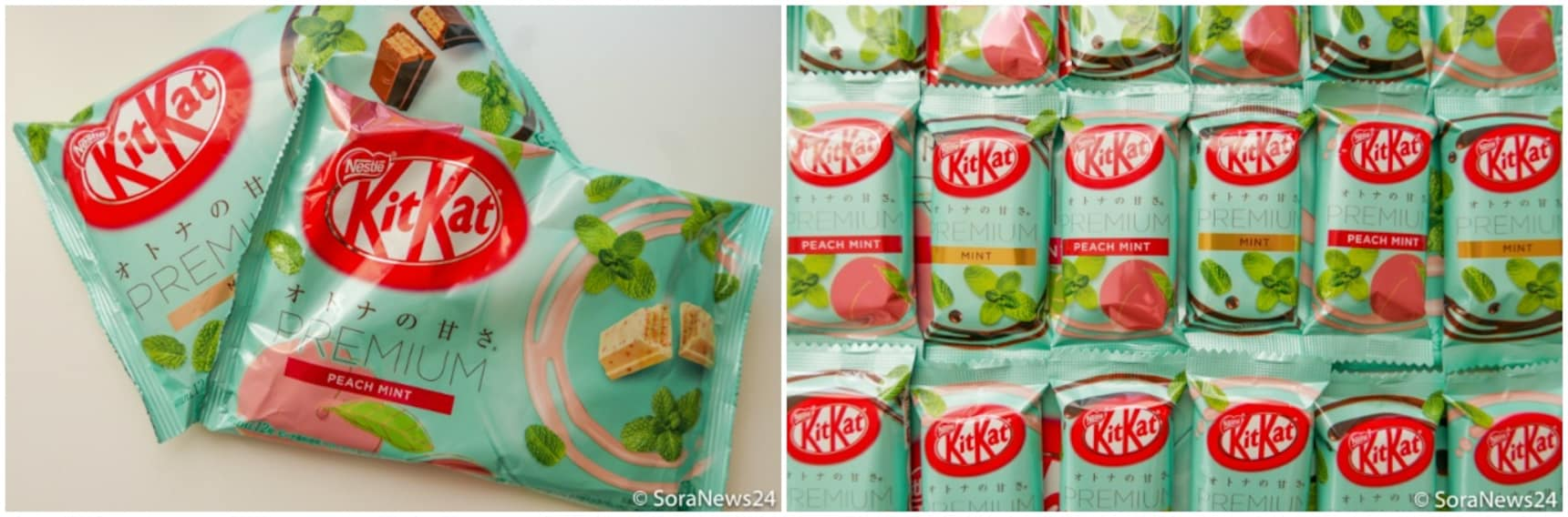 New KitKats Combine Mint, Peach & Rum