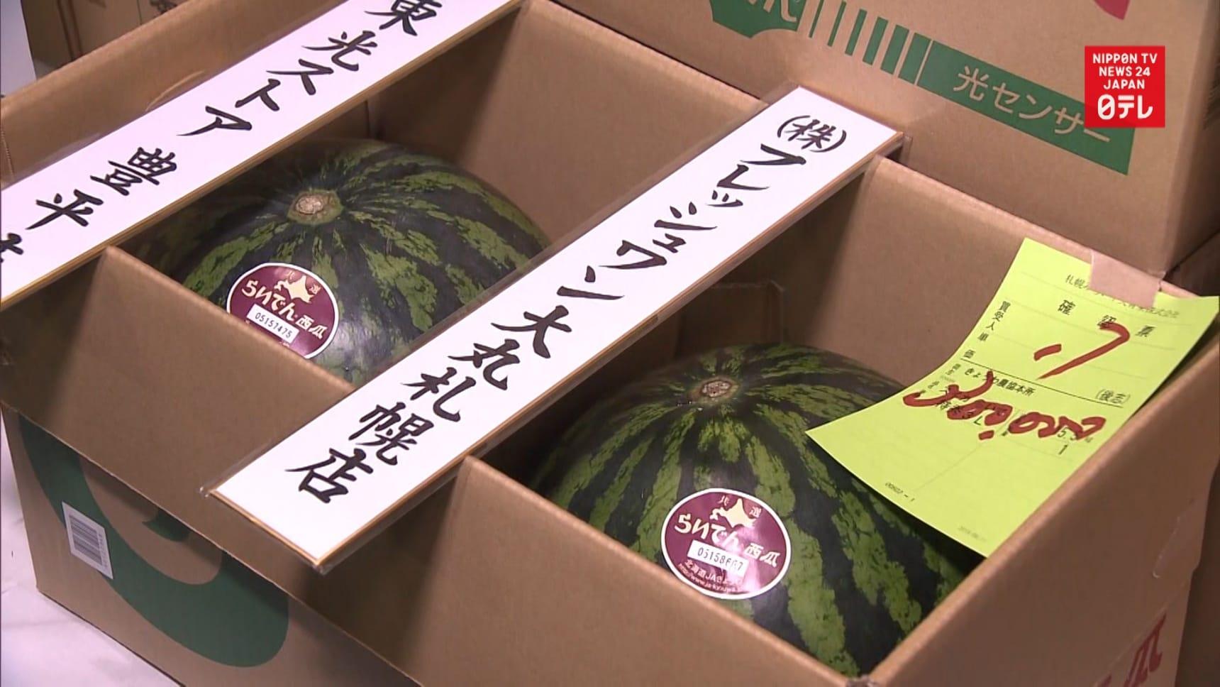 Japan's Super Expensive Seasonal Watermelons
