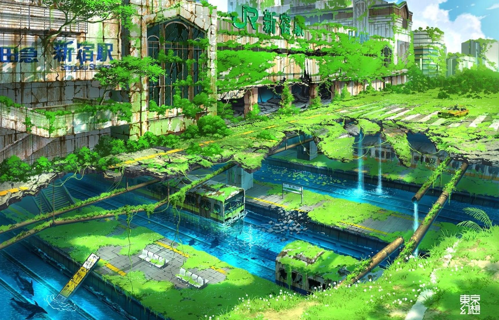 Eerily Awesome Post-Apocalyptic Art of Tokyo