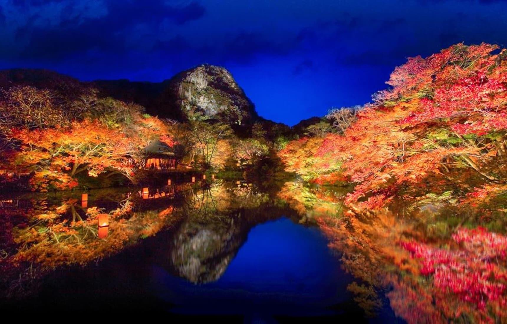 ชมสวนญี่ปุ่นทุกฤดูกาล สวนมิฟุเนะยามะระคุเอน