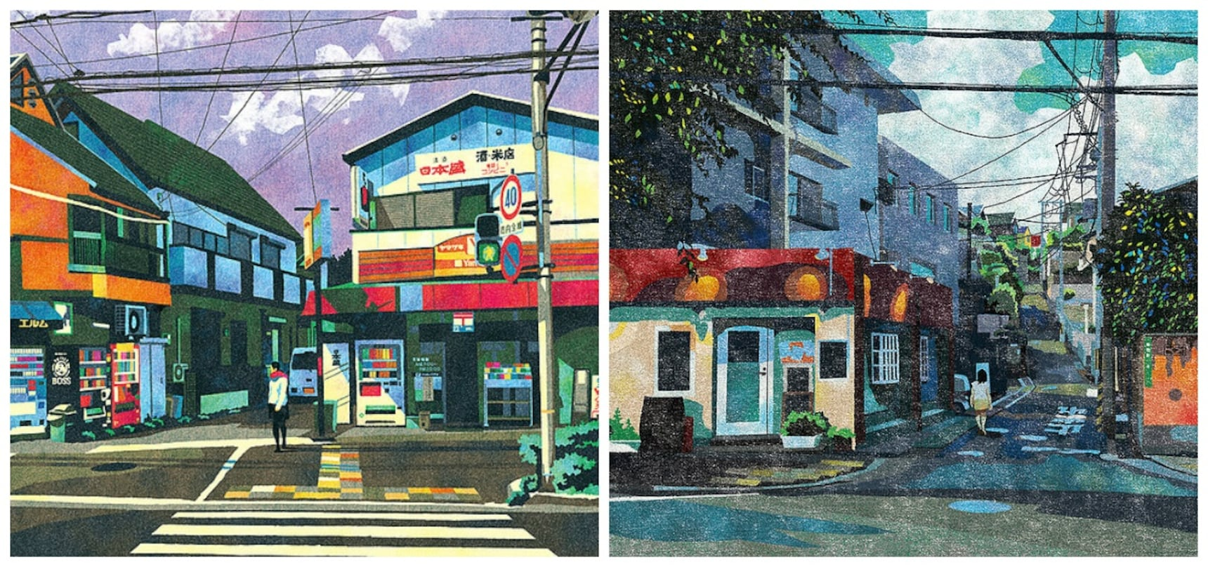 Japanese Illustrator Brings Streets to Life