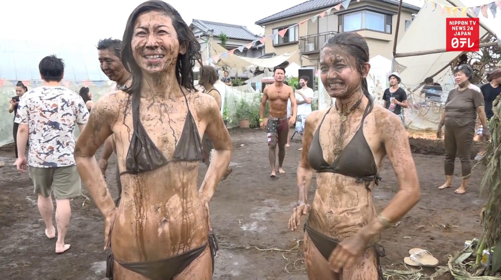 Muddy Fun at a Music & Organic Vegetable Fest