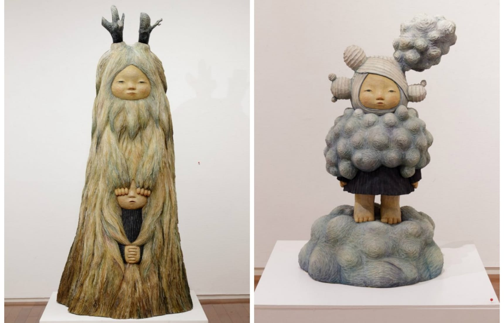 Whimsical Japanese Wood Carvings