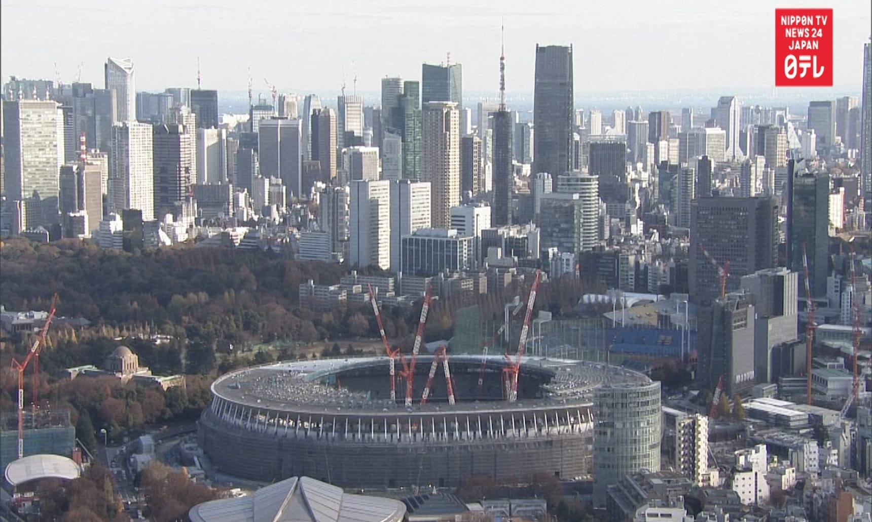 Tokyo Olympic Stadium Time-Lapse