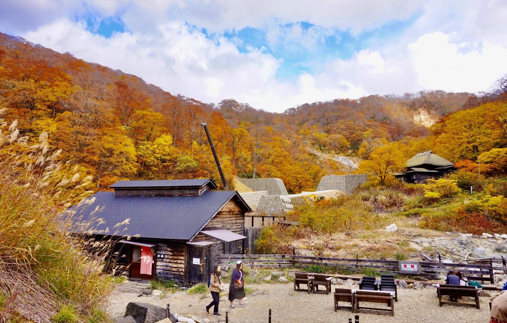 美食美景還有美人湯 秋田賞楓秘境「黑湯溫泉」半日遊