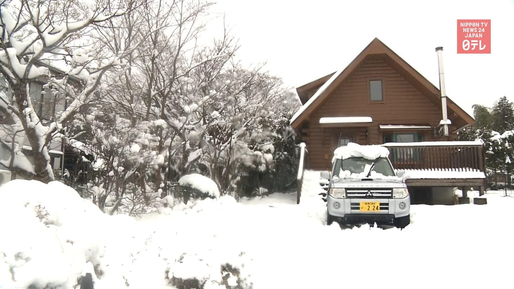Snow Falls West of Tokyo