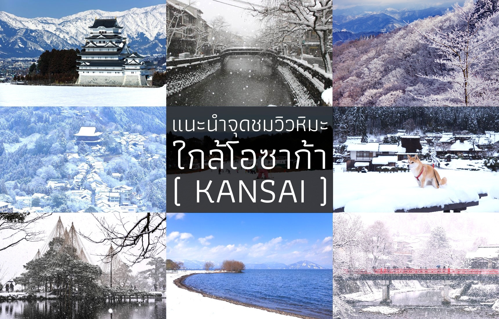 แนะนำจุดชมวิวหิมะใกล้โอซาก้า (โซนคันไซ)