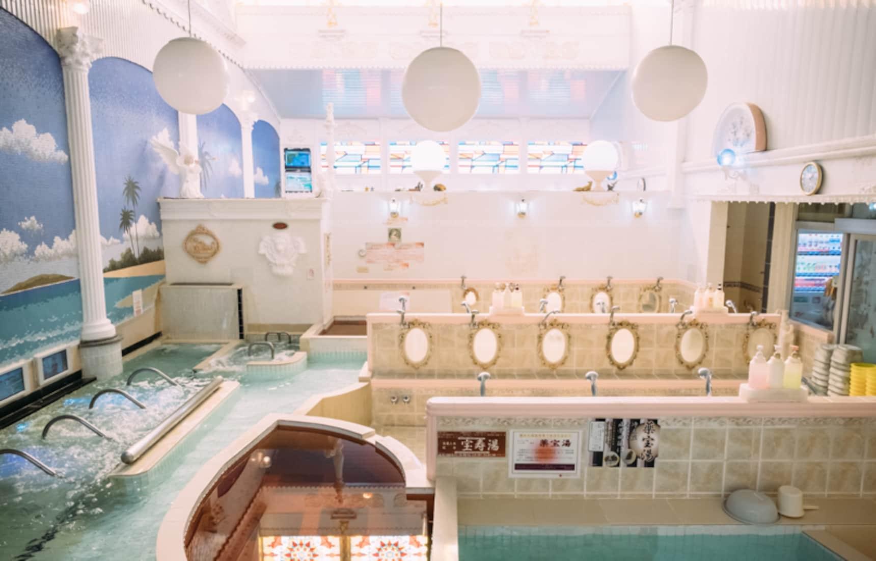 日本传统浴场新创意!东京「小杉汤」的线上泡汤,了解一下?