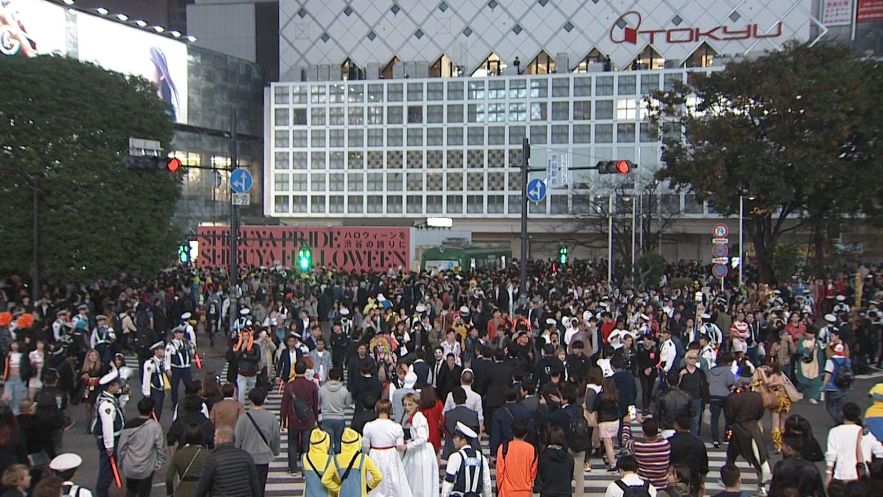 No Halloween Gathering in Shibuya in 2020