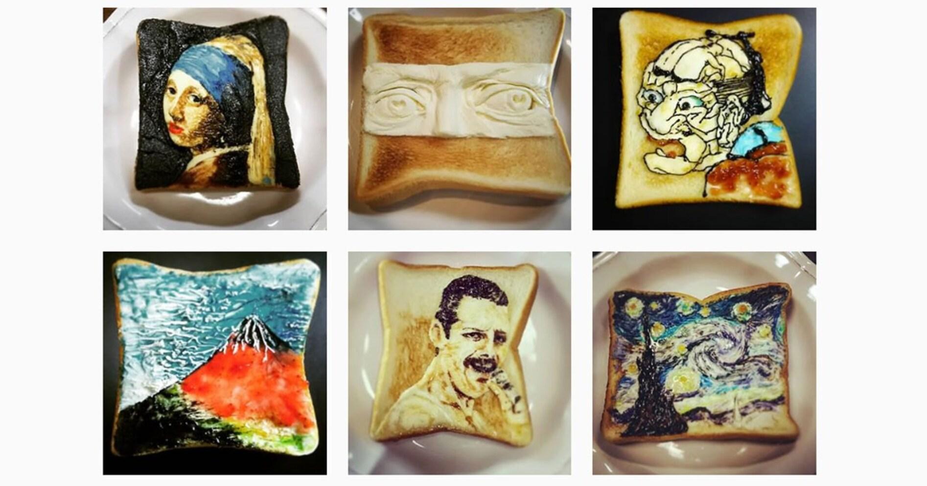 お見事?食欲なくす? 飲食物としての「トーストアート」の是非