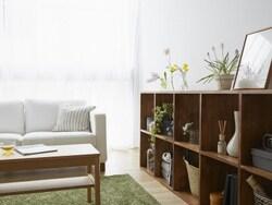 家具は背の低いものにして、水平ラインを強調。窓の外に視線がつながれば、より広さを演出できるでしょう