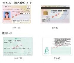 「個人番号カード」と「通知カード」