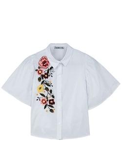 刺繍入りシャツ 2950円(税抜)/Bershka(ベルシュカ)
