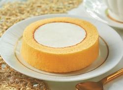 黄金比のクリームと、スポンジの一体感が魅力のロールケーキ。