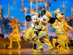 ミッキーマウス、ミニーマウス、グーフィー、ドナルドダックが登場します