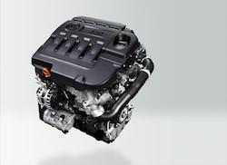 2.0LディーゼルターボのTDIエンジンは、190ps/400Nmというスペック。JC08モード燃費は20.6km/L
