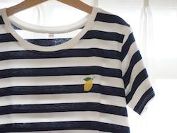 チュニックにレモンのマークを刺繍(刺繍料金は500円税込)