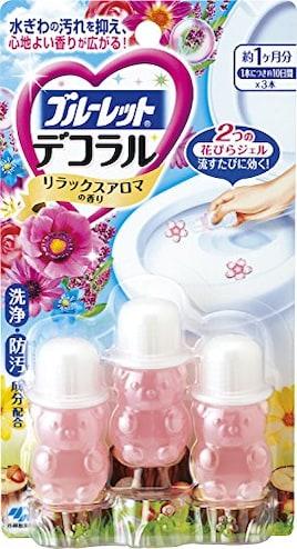 ブルーレットデコラル トイレ便器の内側 香りと汚れ着付防止の花びらジェル リラックスアロマの香り 約30日分