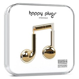 happy plugs EARBUD PLUS インナーイヤー型イヤホン リモコン・マイク付 iOS Android対応 ゴールド  【国内正規品】 EARBUD-PLUS-GOLD7821