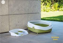 【イタリアStefanplast】イタリアステファンプラスト社製ネコトイレ クイーン グリーン≪かなり大きめ≫